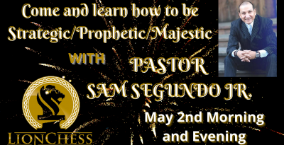 Come and learn how to be Strategic_Prophetic_Majestic